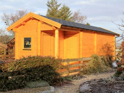 Combination Log Cabin Sheds