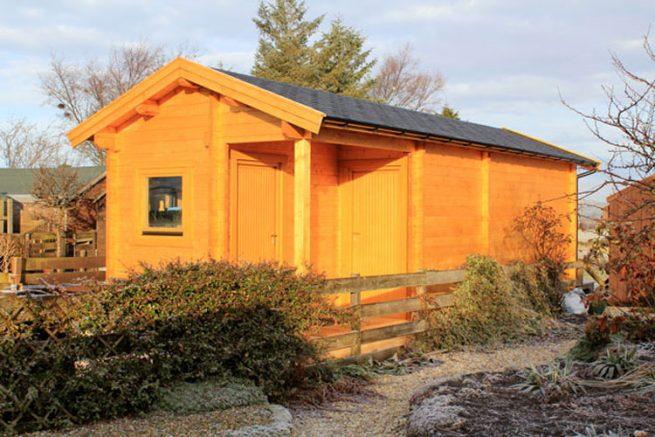 Combination Log Cabin Sheds